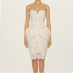 Rafael Cennamo lace hips skirt overlay